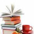 Stack of books on white background. — Stock Photo #11052045