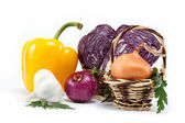 Healthy food. Fresh vegetables on a white background. — Foto Stock
