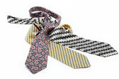Luxury ties isolated on white background. — Foto Stock