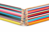 Colored pencils on a white background. — Stock Photo