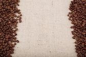 Grãos de café na demissão. — Foto Stock