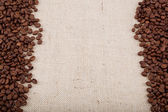 Koffie bonen op plundering. — Foto de Stock