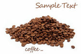Coffee beans, isolated on white — Stock Photo