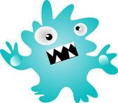 Monstruo azul — Vector de stock
