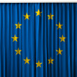 European Union flag on curtain — Foto de Stock