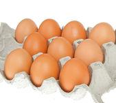 Eier im paket — Stockfoto