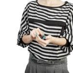 Women touching phone modern mobile — Stock Photo #11234511