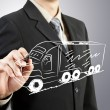 Stockfoto: Business mdraw truck transportation