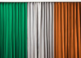 Republic of Ireland flag on curtain — Stock Photo