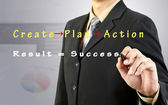 Uomo d'affari pareggio successo diagramma di flusso — Foto Stock