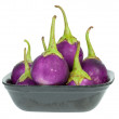 Purple eggplant in Styrofoam Food Tray — Stock Photo