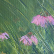Canvas painting closeup — Photo