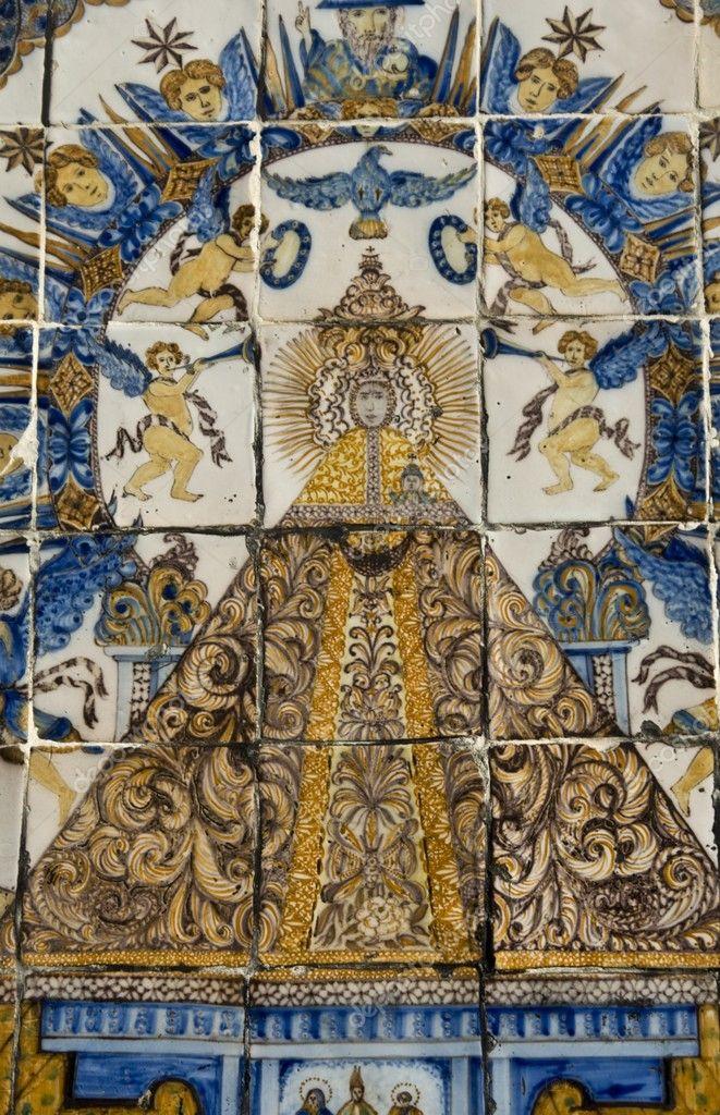 Virgen del prado azulejos cer mica de talavera foto de for Azulejos de ceramica
