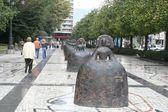 Las Meninas by Manolo Valdés in Oviedo, Asturias — Stock Photo