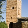Tower of the Monasterio de Piedra, Zaragoza, Spain - Stock Photo