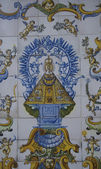 Virgen del Prado, tiles, ceramic Talavera, Toledo — Stock Photo