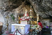 The Holy Cave, Chapel of Our Lady of Covadonga, Asturias — Stock Photo