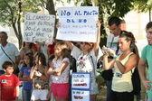 Protest Movement 15M, Talavera, — Stock Photo