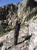 Climbing in Gredos, climb to The Galayos, Avila, Spain — Stock Photo