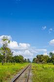 Railway in green landscape — Stock Photo