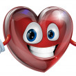 Heart cartoon man illustration — Stock Vector
