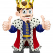 King cartoon — Imagen vectorial