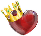 King of hearts concept — Stock Vector