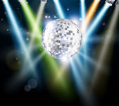 Disco mirror ball background — Stock Vector