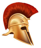 Ancient Greek Warrior Helmet — Stock Vector