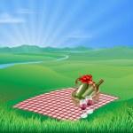 Picnic landscape — Stock Vector #11330522