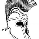 Monochrome Corinthian helmet — Stock Vector #11330527