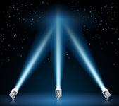 Illustration de projecteurs d'éclairage — Vecteur