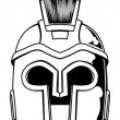Постер, плакат: Monochrome Spartan helmet illustration