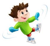 Ice skating cartoon — Stock Vector