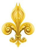 Gold Fleur-de-lis design — Stock Vector