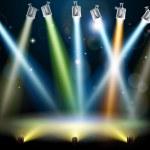 Dance floor or stage lights — Stock Vector