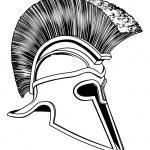 ������, ������: Black and White Trojan Helmet