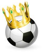 King of football soccer — Stock Vector