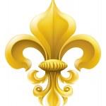 Golden Fleur-de-lis illustration — Stock Vector
