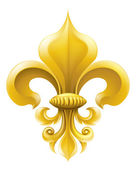 Golden Fleur-de-lis illustration — Stock Vector