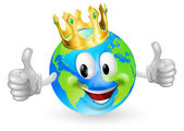 King of the World Mascot — Stock Vector