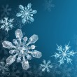 Blue Christmas snowflake background - Vettoriali Stock