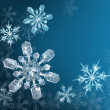 Blue Christmas snowflake background - Image vectorielle