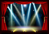 Spotlight theatre stage — Stock Vector