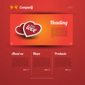 Láska a datování webové šablony — Stock vektor