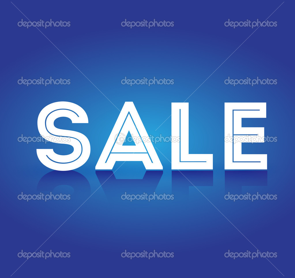 Sale on blue background vector — Stock Vector #11436979