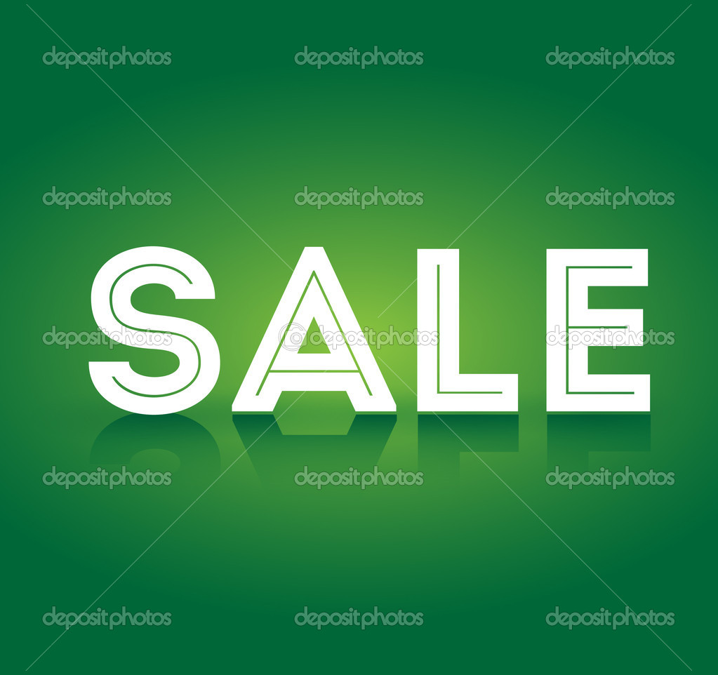 Sale on green background vector — Stock Vector #11437061