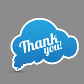Thank you cloud — Stock Vector