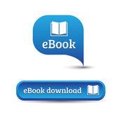 Ebook icon button — Stock Vector