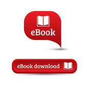 Ebook icon button — Stock Vector